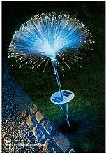 IBV LED SOLAR RGB Lichtregen Edelstahl Gartendeko Wegedeko Gartenleuchte Wegeleuchte