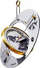 ICARUS Weltzeit-Reise-Sonnenuhr, Sonnenkompass und Navigator