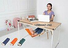 icase4u® Büro Fuß Hängematte unter dem Schreibtisch Verstellbar(3 Farben) (Orange)
