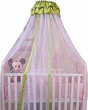 Icegrey Betthimmel Baldachin Kinder Himmel Für Babybett Himmelbett Insektenschutz Mückennetz für Kinderbetten Mit Klemme Himmelstange Schleierhalter Grün