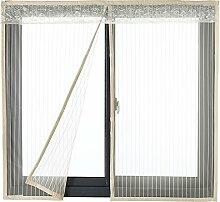 Icegrey Fliegengitter Tür Fenster Ohne Bohren Insektenschutz Magnet Fliegenvorhang Für Schiebefenster Dachfenster Beige 140x150cm