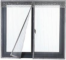 Icegrey Fliegengitter Tür Fenster Ohne Bohren Insektenschutz Magnet Fliegenvorhang Für Schiebefenster Dachfenster 150x160 cm Grau