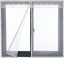 Icegrey Fliegengitter Tür Fenster Ohne Bohren Insektenschutz Magnet Fliegenvorhang Für Schiebefenster Dachfenster 150x130 cm Weiß
