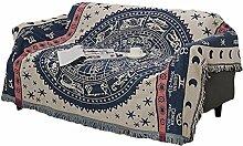 Icegrey Konstellation Beige Sofaüberwurf mit Quasten Couch Überwurf Decke Sofa Stuhl Bezug Tischdecke Tagesdecke Kuscheldecke 340 x 180 CM