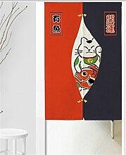 Icegrey Leinen Vorhang Japanische Noren Panels