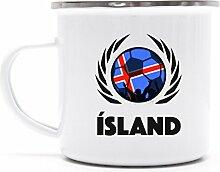 Iceland Wappen Fussball WM Fanfest Metalltasse