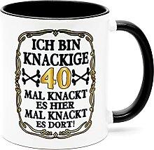 Ich bin knackige 40 Jahre Tasse Becher
