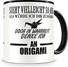 Ich denke an Origami Tasse Kaffeetasse Teetasse