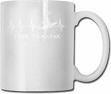 Ich lebe, um Mode Kaffeetasse Porzellan Tassen