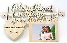 Ich liebe dich Geschenk mit Namen und Text Gravur Wand Bilderrahmen Hochzeit Verlobung Ehepaar Paar Pärchen für Mann Männer Frauen Freundin Freund Frau Ehefrau Ehemann individuell personalisier