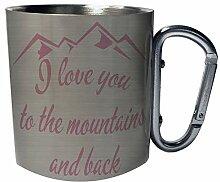Ich liebe dich in die Berge und zurück Edelstahl