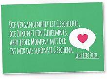 Ich Liebe Dich Kunststoff Schild (grün, 30 x 20