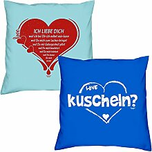 Ich liebe Dich kuscheln zum Valentinstag, Muttertag, Vatertag, Kissen, Dekokissen, Geschenkidee für Sie und Ihn