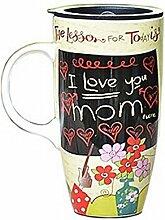 Ich liebe dich Mamma-Becher Kaffeehaferl Große Kaffeetasse-Becher Tee Saft Milch
