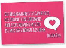 Ich liebe Dich Schild (rosa, 30 x 20 cm), Liebesbeweis - süßes Geschenk für den Freund oder die Freundin, Geschenkidee Jubiläum für Sie oder Ihn, Geburtstagsgeschenk für Partnerin oder Partner