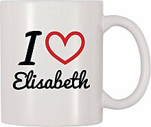 Ich liebe Elisabeth personalisierte Namen