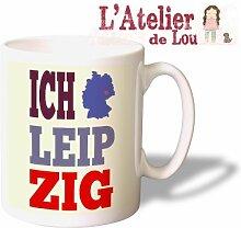Ich liebe Leipzig mug Keramisch Kaffeetasse Kaffeebecher - Originelle Geschenkidee - Spülmachinenfes