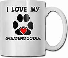 Ich liebe mein - Goldendoodle Mode Kaffeetasse