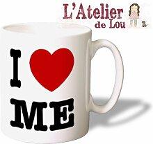 Ich liebe mich (I heart me) Keramik mug Kaffeetasse Kaffeebecher - Originelle Geschenkidee - Spülmachinenfes