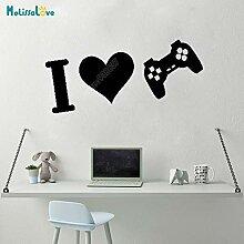 Ich Liebe Spiel Aufkleber Herz Spiel Liebhaber