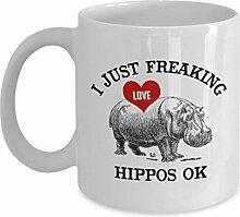 Ich nur Freaking Love Hippos Ok Kaffeetasse,