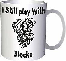Ich spiele immer noch mit Blöcken 33 cl Tasse