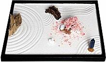 icnbuys Zen Garten Set Zubehör und Werkzeuge verschiedenen Auswahlmöglichkeiten DIY Eigenen Garten, L