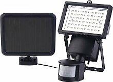 ICOCO 60 SMD LED Solarstrahler Solar Leuchte Strahler Außenleuchte Wandleuchte Fluter mit PIR Bewegungsmelder