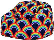 icon Kinder Sitzsack Stuhl, Regenbogen Sitzsäcke
