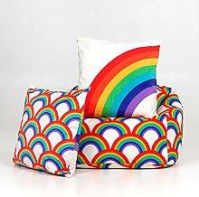 icon Kinder Sitzsack Stuhl und Kissen Set,