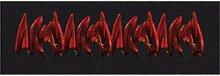 ID matt 40120Luxe Chilischoten Küchenteppich, Faser Nylon/Gummi schwarz 116x 40x 0,8cm