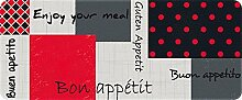 ID matt 50120Enjoy Küchenteppich, Faser Polyamid/PVC Mehrfarbig 120x 50x 0,4cm
