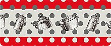 ID matt 50120Fifties Küchenteppich, Faser Polyamid/PVC Mehrfarbig 120x 50x 0,4cm