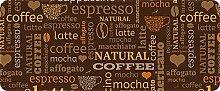 ID matt 50120Kaffee Espresso Küchenteppich, Faser Polyamid/PVC braun 120x 50x 0,4cm