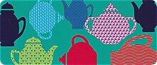 ID matt 50120Teekannen Küchenteppich, Faser Polyamid/PVC Mehrfarbig 120x 50x 0,4cm