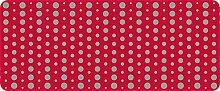 ID matt 5012002Punkte Küchenteppich, Faser Polyamid/PVC 120x 50x 0,4cm, rot, 50 x 120 cm