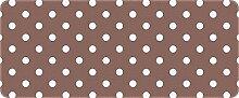 ID matt 501201800gepunktet Küchenteppich, Faser Polyamid/PVC taupe/weiß 120x 50x 0,4cm