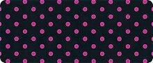 ID matt 501202009gepunktet Küchenteppich, Faser Polyamid/PVC schwarz/fuchsia 120x 50x 0,4cm
