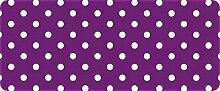 ID matt 501202400gepunktet Küchenteppich, Faser Polyamid/PVC violett/weiß 120x 50x 0,4cm