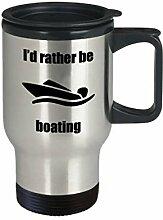 Id Rather Be Boating Tasse, Reise-Geschenkidee,