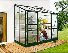 Ida 3300 Alu-Anlehngewächshaus grün HKP 4 mm