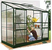 Ida 5200 Alu-Anlehngewächshaus grün HKP 4 mm 5,2