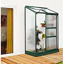 Ida 900 Alu-Anlehngewächshaus grün HKP 4 mm