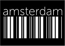 Idakoos Amsterdam barcode - Kapitale - Aufkleber