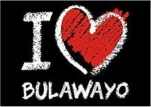 Idakoos I love Bulawayo chalk style - Hauptstädte