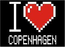 Idakoos I love Copenhagen pixelated - Kapitale -