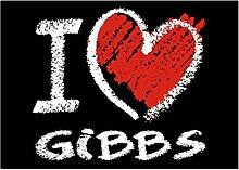 Idakoos I love Gibbs chalk style - Nachnamen -