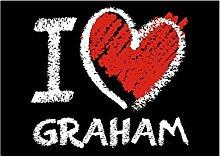 Idakoos I love Graham chalk style - Nachnamen -