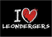 Idakoos I love Leonbergers chalk style - Hunde -