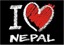 Idakoos I love Nepal chalk style - Länder -